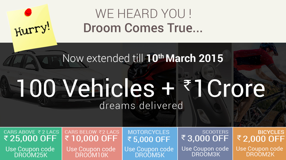Droom Coupon Codes