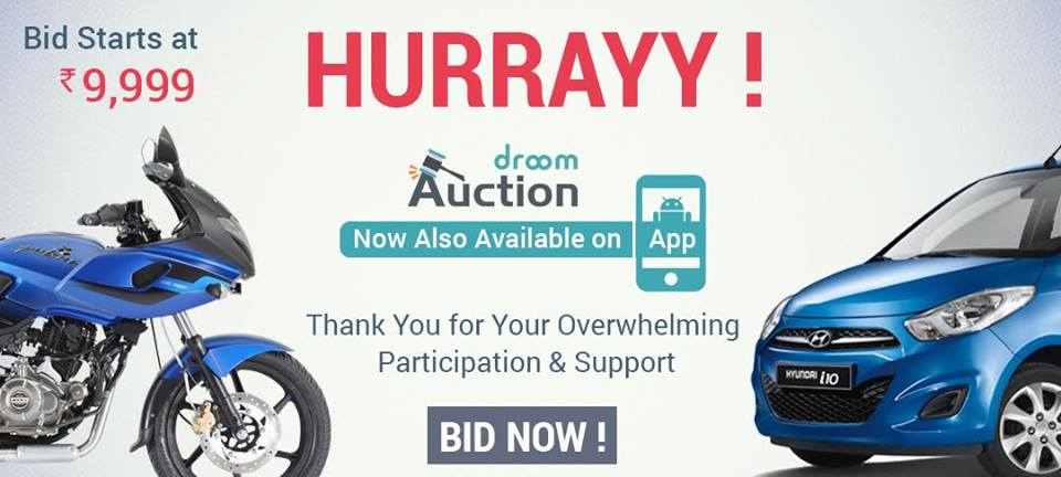 Droom Auction on App