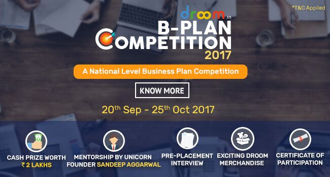 Droom B-Plan Competition 2017