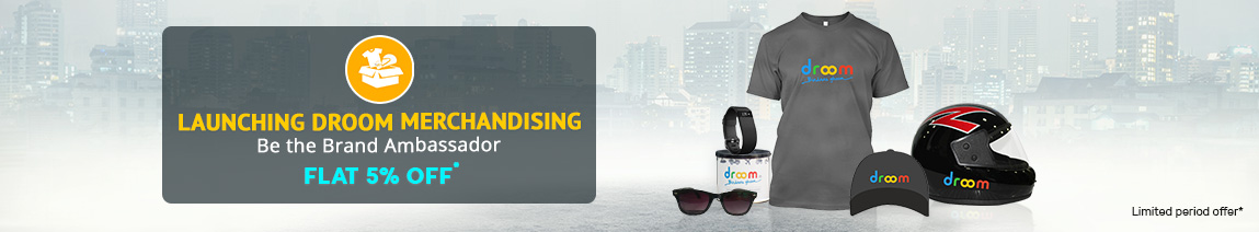 Droom Merchandising flat 5% off