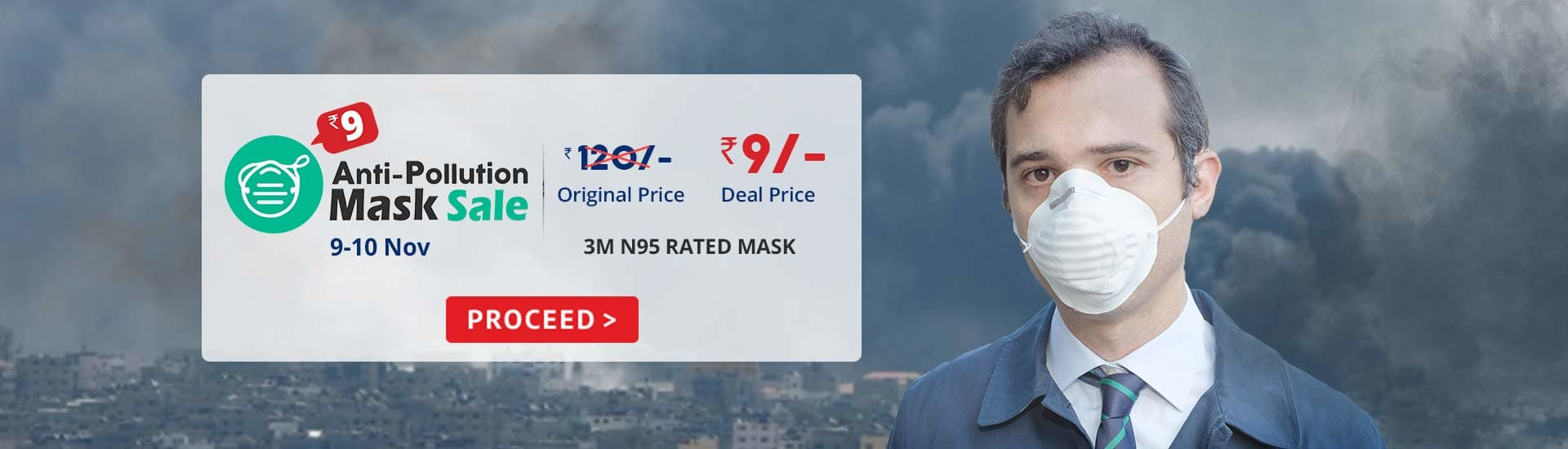 Anti-Pollution Mask Sale Delhi