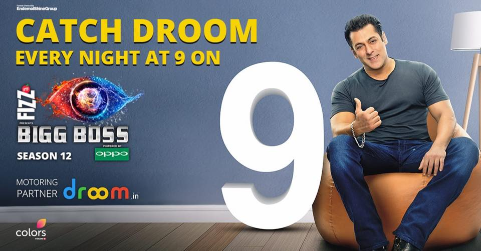 Droom Motoring Partner in Bigg Boss