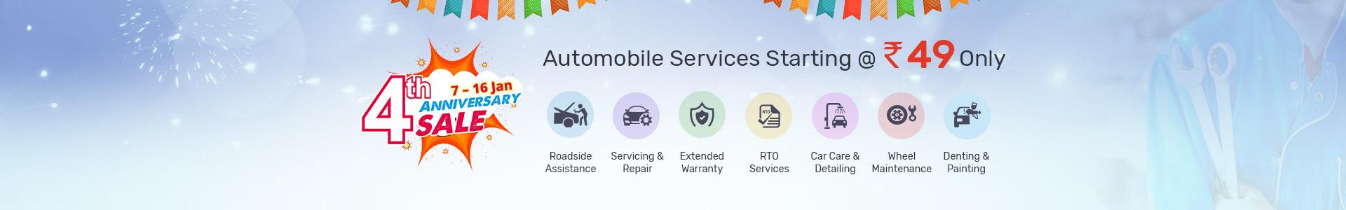 4th Anniversary Automobile Services Sale