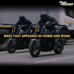Bikes in Fast and Furious Hobbs and Shaw