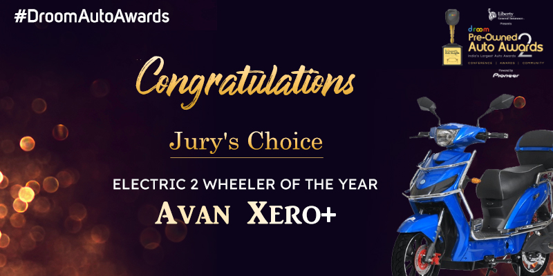 Avan xero+ - Electric 2 wheeler of the year