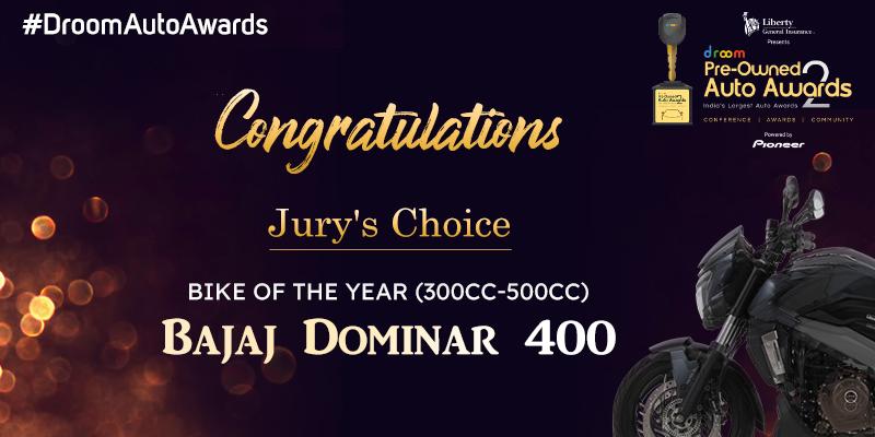 Bajaj Dominar 400_Bike of the Year 300cc-500cc