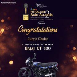 Bajaj CT 100 Commuter bike of the year