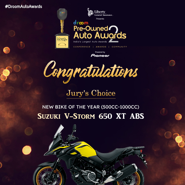 Suzuki V-Storm 650 XT ABS - New Bike of the year (500cc - 1000cc)