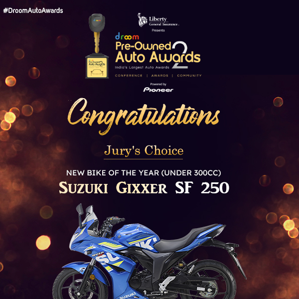Suzuki Gixxer SF 250 -New Bike of the Year (Under 300cc)