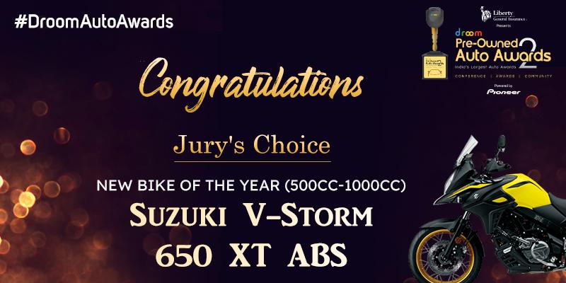 Suzuki V-Storm 650 XT ABS - New Bike of the year (500cc - 1000cc)