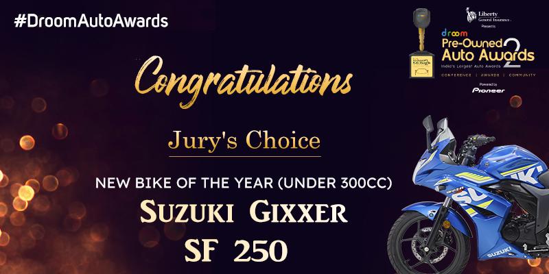Suzuki Gixxer SF 250 -New Bike of the Year (Under 300cc)