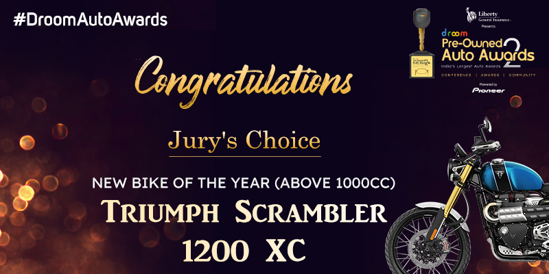 Triumph Scrambler 1200 XC- New Bike of the Year (Above 1000 cc)