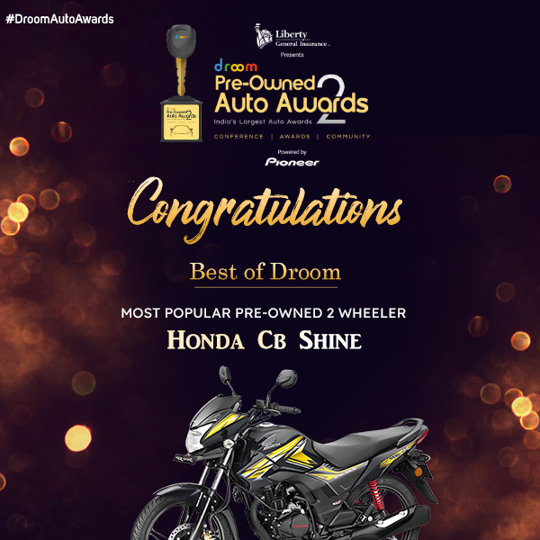 Honda CB Shine - Best of droom_Most popular 2 wheeler