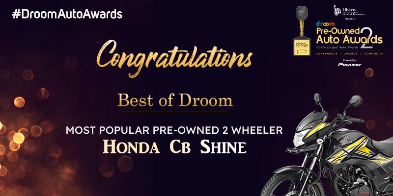 Honda CB Shine - Best of droom_Most popular 2 wheeler