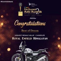 RE Himalayan - Best of droom_highest resale 2 wheeler