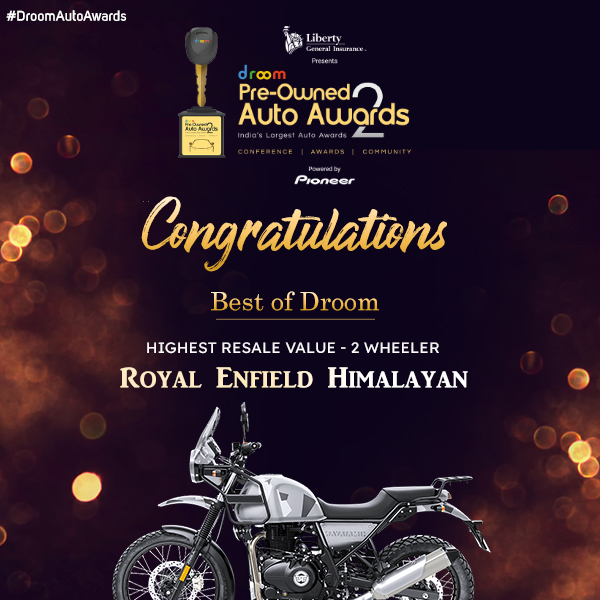 RE Himalayan - Best of droom_highest resale 2 wheeler