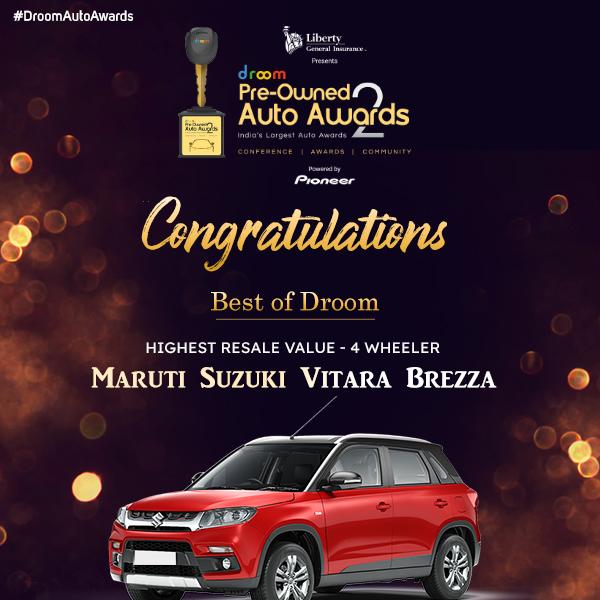 Vitara Breeza - Best of droom_highest resale 4 wheeler