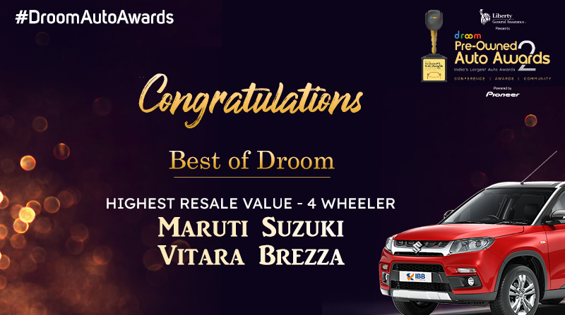Vitara Breeza - best of droom_Highest resale 4 wheeler