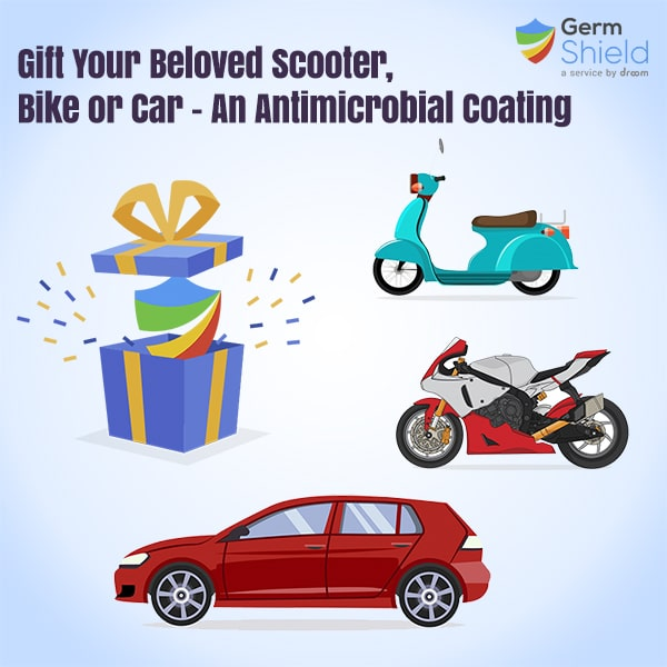 Germ shield for car bike and scooter