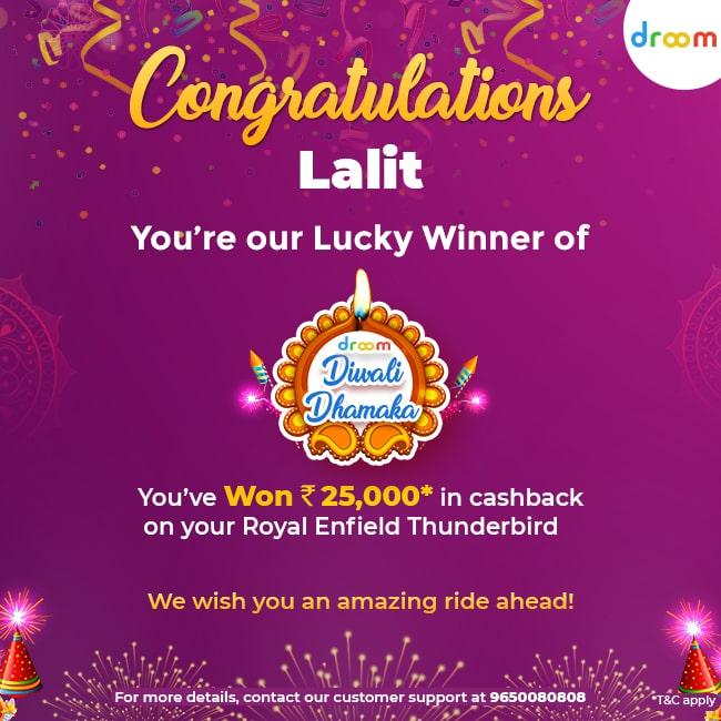 Diwali Dhamaka Offer Winner Lalit