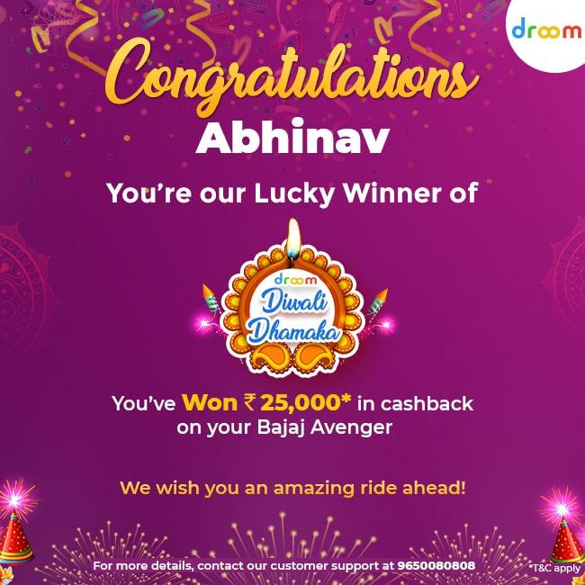 Diwali Dhamaka Offer Winners Abhinav