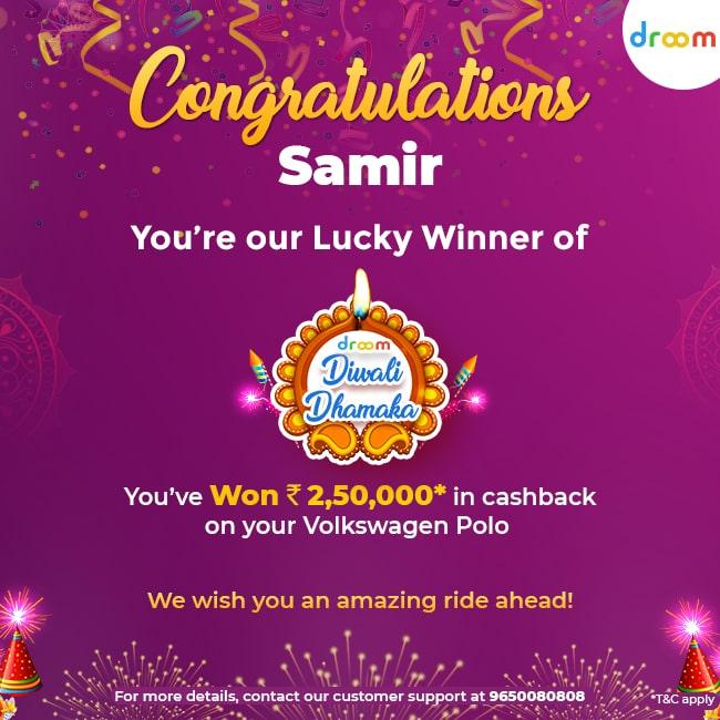 Diwali Dhamaka Offer Winners Samir