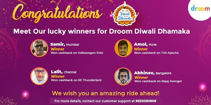 Droom Diwali Dhamaka Winners