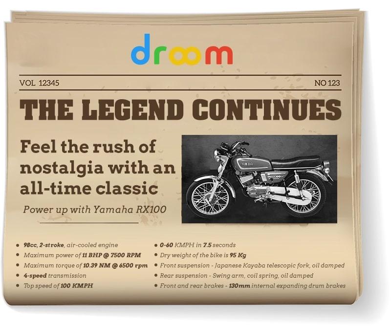 Yamaha RX100 Bikes