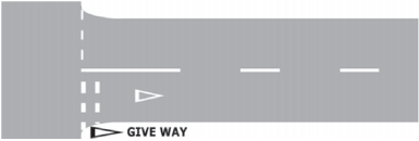 Give Way Line Sign