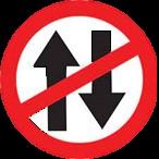 Vehicle prohibited sign